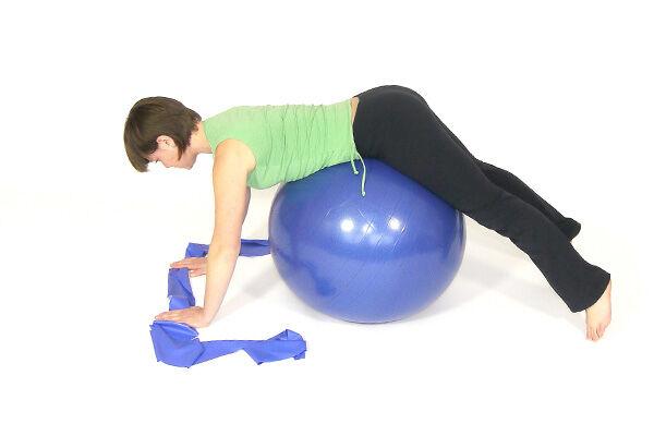 массаж на фитболе для грудничков