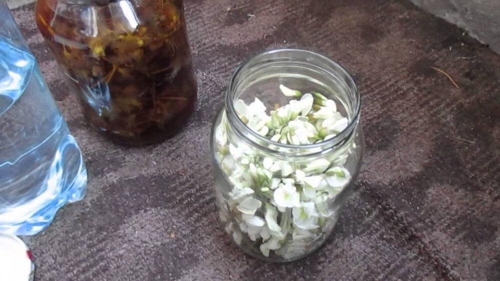 Как сделать настойку на цветках белой акации