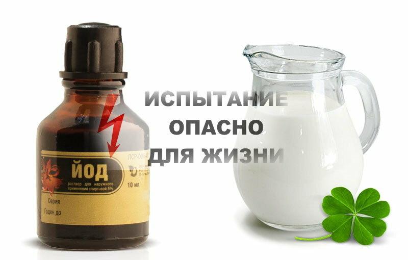 Молоко с йодом для прерывания беременности (пропорции)