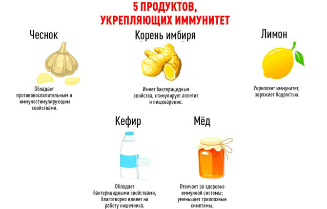 Продукты укрепляющие иммунитет